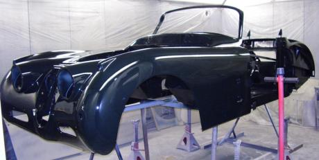 Jaguar restoration and rebuild